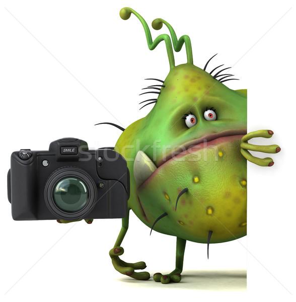 Jókedv bacilus 3d illusztráció egészség fotó rajz Stock fotó © julientromeur