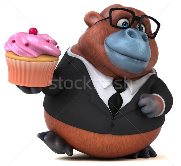 Jókedv 3d illusztráció üzlet természet üzletember majom Stock fotó © julientromeur