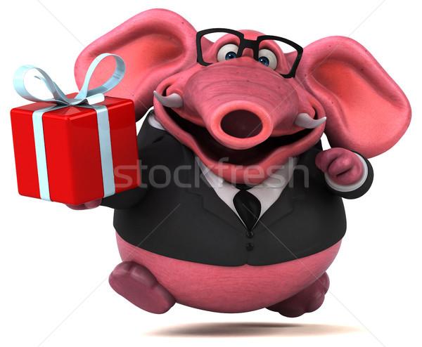 Pink elephant - 3D Illustration Stock photo © julientromeur