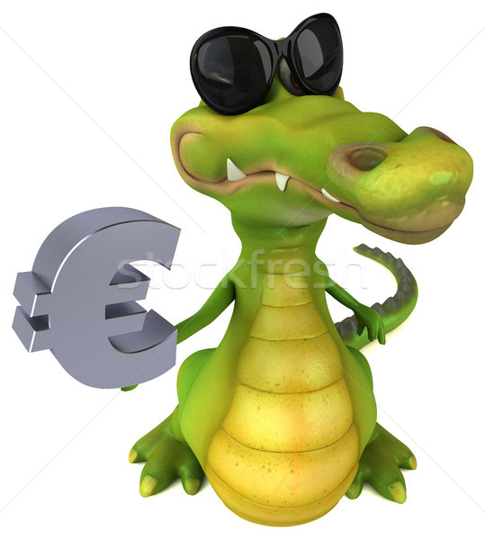 Krokodil eğlence iş mutlu dizayn sanat Stok fotoğraf © julientromeur