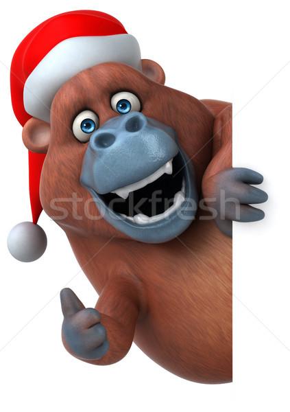 Jókedv orangután 3d illusztráció természet Afrika majom Stock fotó © julientromeur