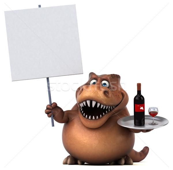 весело 3d иллюстрации пить красный зубов животного Сток-фото © julientromeur