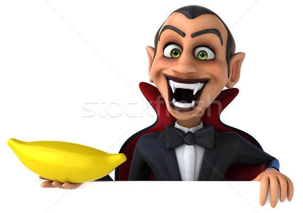 вампир искусства рот губ черный банан Сток-фото © julientromeur