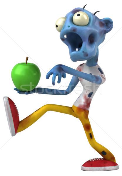 Zabawy zombie 3d ilustracji jabłko krwi zielone Zdjęcia stock © julientromeur
