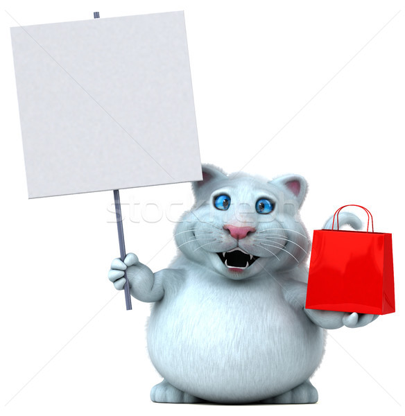 весело кошки 3d иллюстрации бизнеса белый Cartoon Сток-фото © julientromeur