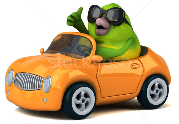 Fun green bird - 3D Illustration Stock photo © julientromeur