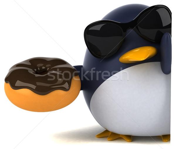 Spaß Pinguin 3D-Darstellung Schokolade Vogel funny Stock foto © julientromeur