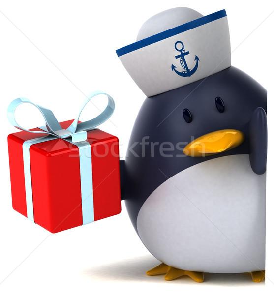 Jókedv pingvin 3d illusztráció madár vicces ajándék Stock fotó © julientromeur