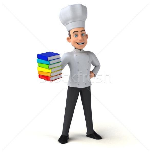 Jókedv szakács könyv konyha fehér főzés Stock fotó © julientromeur