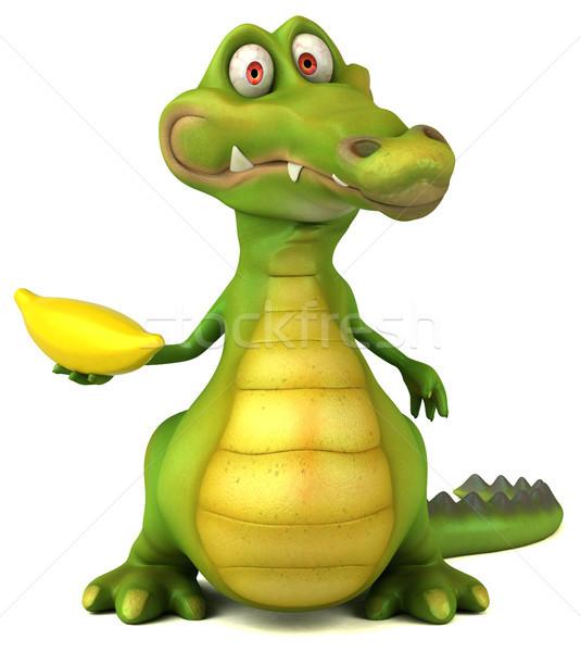 Krokodil jókedv boldog terv művészet száj Stock fotó © julientromeur