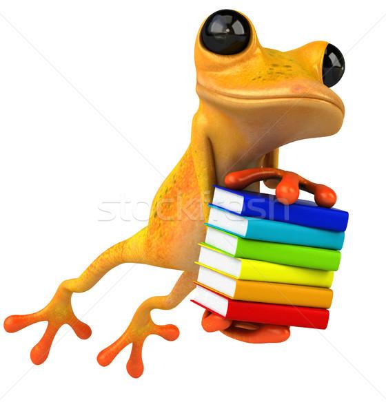 Diversão sapo livro olho escolas tropical Foto stock © julientromeur