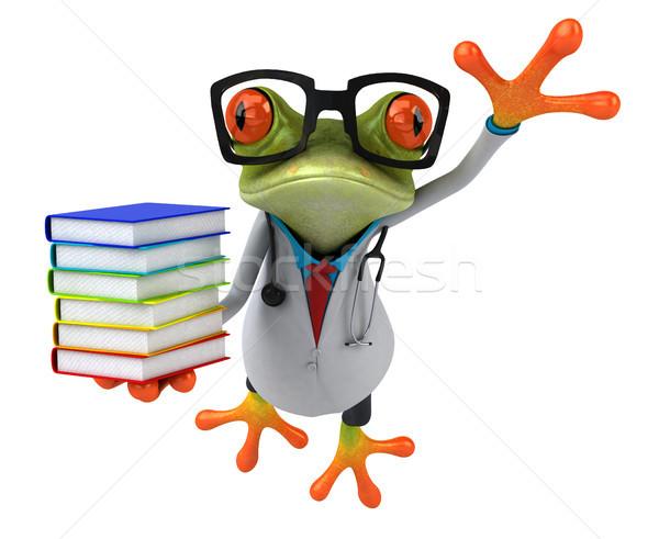 Eğlence kurbağa göz okul doğa hastane Stok fotoğraf © julientromeur