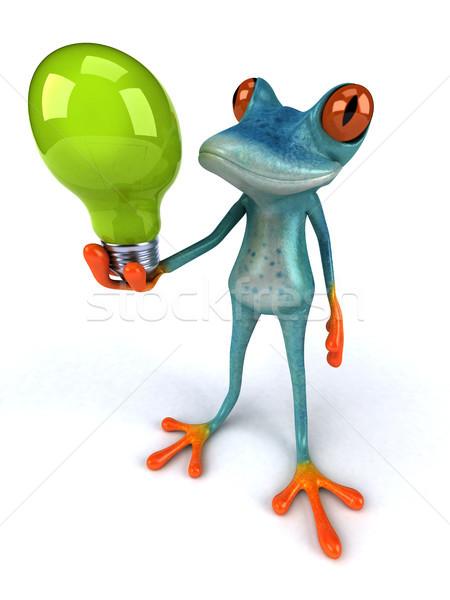 Zabawy żaba 3d ilustracji charakter zielone energii Zdjęcia stock © julientromeur