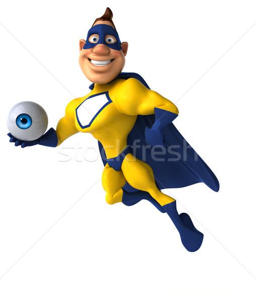 Zabawy superhero oka człowiek ciało prędkości Zdjęcia stock © julientromeur