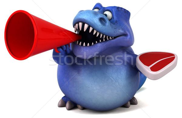 Сток-фото: весело · динозавр · 3d · иллюстрации · зубов · животного · история