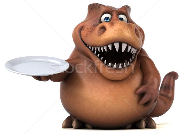 Eğlence 3d illustration gıda dişler hayvan tarih Stok fotoğraf © julientromeur