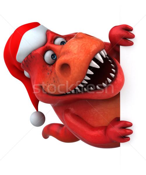 Eğlence dinozor 3d illustration dişler hayvan Noel Stok fotoğraf © julientromeur