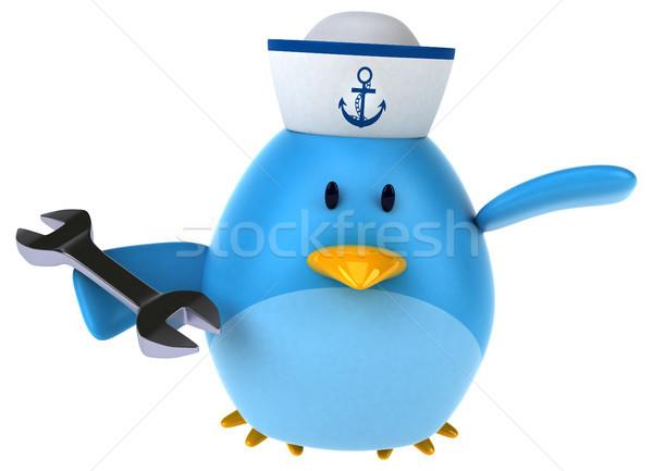Bleu oiseau 3d illustration internet travaux art Photo stock © julientromeur