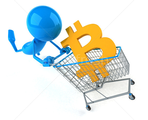 Bitcoin alışveriş 3d illustration Internet ağ ekran Stok fotoğraf © julientromeur