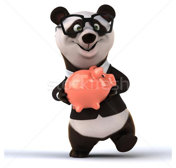 Eğlence panda orman dizayn banka domuz Stok fotoğraf © julientromeur