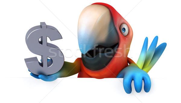 Eğlence papağan göz kuş yeşil finanse Stok fotoğraf © julientromeur