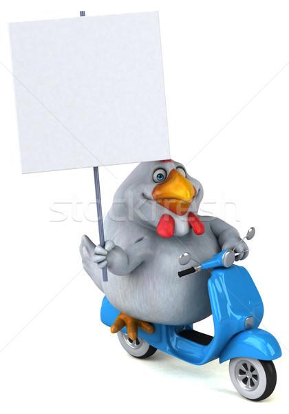 Leuk kip 3d illustration model kunst vogel Stockfoto © julientromeur