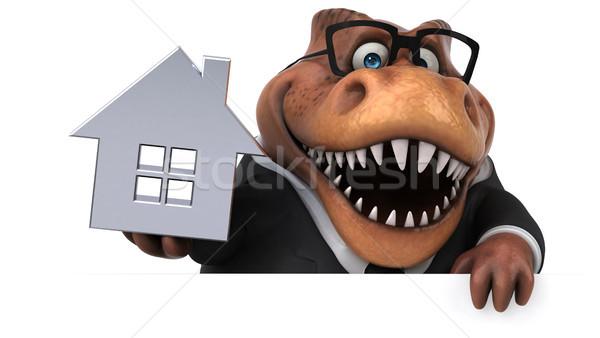 Eğlence 3d illustration iş ev ev işadamı Stok fotoğraf © julientromeur