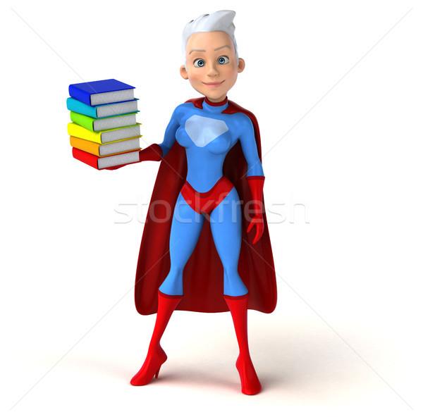 Süper kadın kitaplar vücut kızlar hızlandırmak Stok fotoğraf © julientromeur