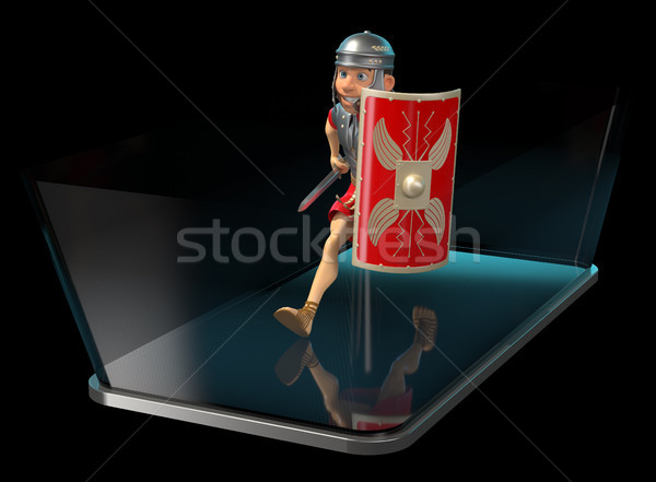 Romana soldado 3d teléfono tecnología guerra Foto stock © julientromeur