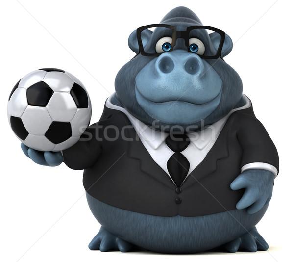 Jókedv gorilla 3d illusztráció futball sport futball Stock fotó © julientromeur