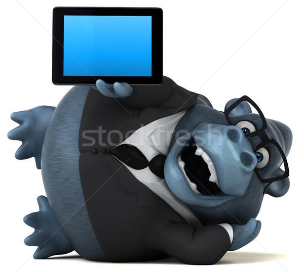 Eğlence goril 3d illustration işadamı takım elbise komik Stok fotoğraf © julientromeur