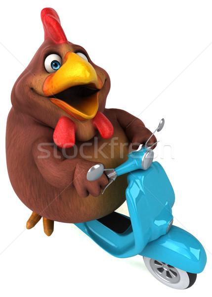 Zabawy kurczaka 3d ilustracji model sztuki ptaków Zdjęcia stock © julientromeur