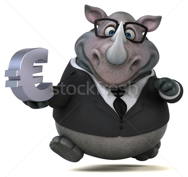Zabawy nosorożec 3d ilustracji działalności biznesmen garnitur Zdjęcia stock © julientromeur