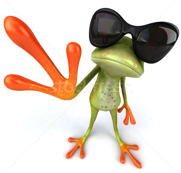 Cool żaba zielone zwierząt okulary środowiska Zdjęcia stock © julientromeur