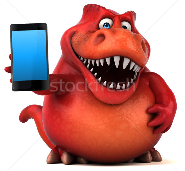 Eğlence dinozor 3d illustration iletişim dişler hayvan Stok fotoğraf © julientromeur