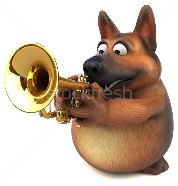 Pastore cane illustrazione 3d musica jazz animale Foto d'archivio © julientromeur