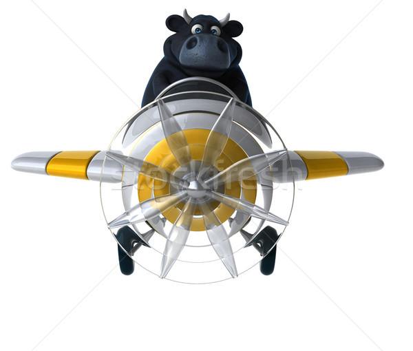 楽しい 牛 3次元の図 髪 ファーム チーズ ストックフォト © julientromeur
