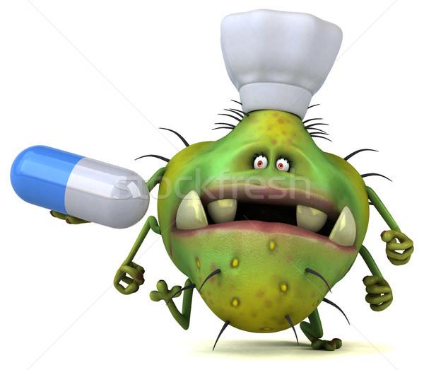 Jókedv bacilus 3d illusztráció egészség grafikus rajz Stock fotó © julientromeur
