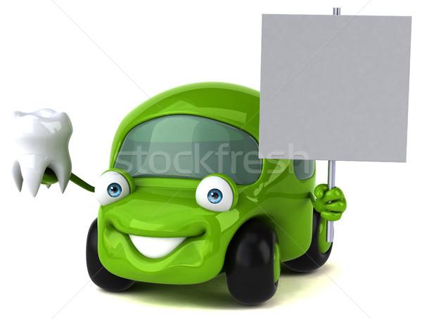 Leuk auto 3d illustration weg energie tanden Stockfoto © julientromeur