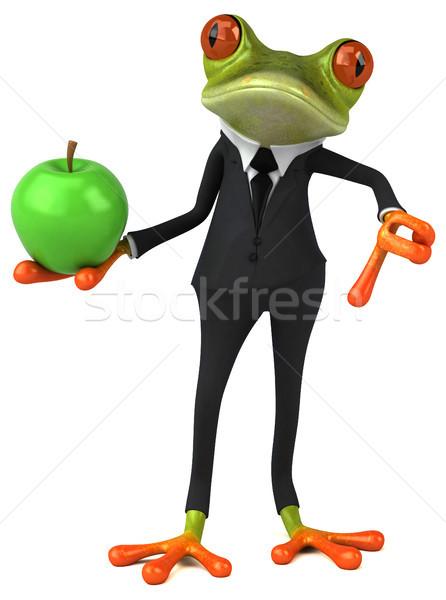 Diversão sapo negócio olho natureza fruto Foto stock © julientromeur