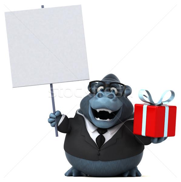 Diversión gorila 3d traje animales camisa Foto stock © julientromeur