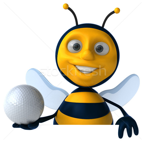Leuk bee golf sport bal werknemer Stockfoto © julientromeur