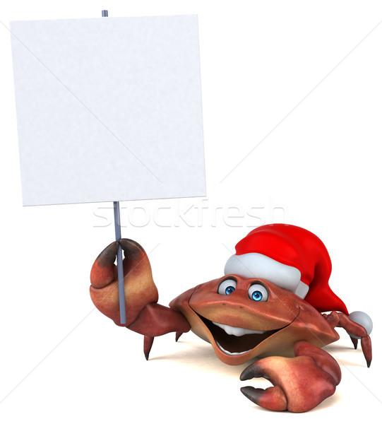 Amusement crabe 3d illustration alimentaire blanche cuisson Photo stock © julientromeur