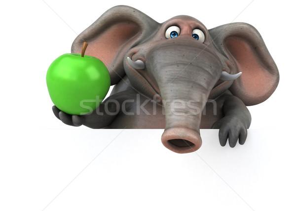 Diversión elefante 3d frutas selva animales Foto stock © julientromeur