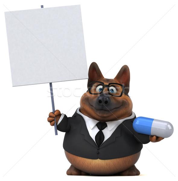 Herder hond 3d illustration geneeskunde pak dier Stockfoto © julientromeur