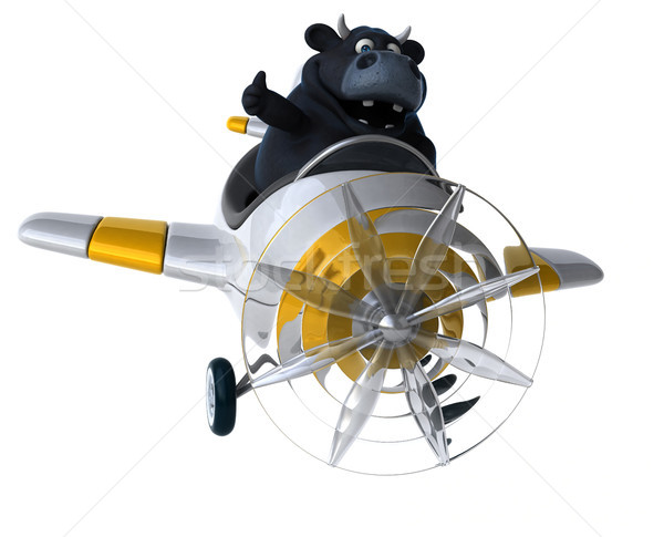 Fun bull - 3D Illustration Stock photo © julientromeur