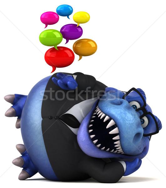 Сток-фото: весело · 3d · иллюстрации · бизнеса · бизнесмен · Финансы · зубов