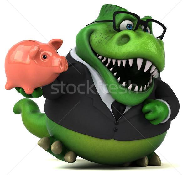 Eğlence 3d illustration işadamı finanse dişler hayvan Stok fotoğraf © julientromeur