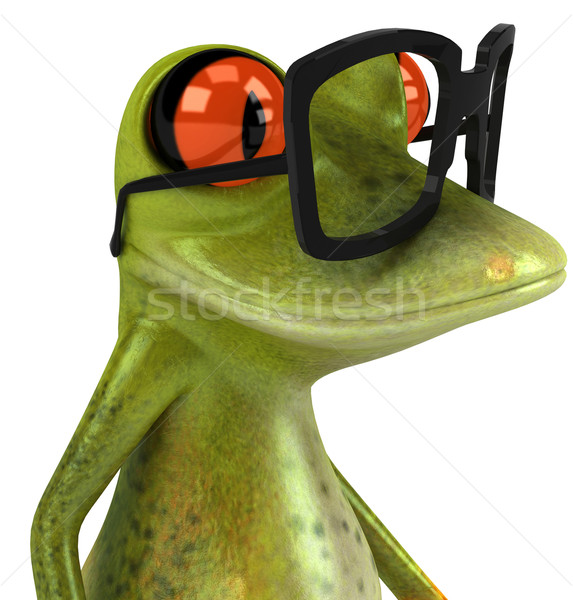 Frog and glasses Stock photo © julientromeur