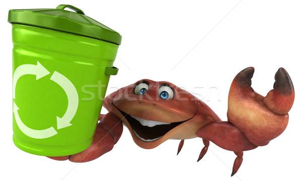 Diversão caranguejo ilustração 3d comida branco lixo Foto stock © julientromeur